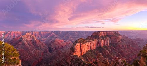 Summer sunset at the Grand Canyon, Arizona, USA.