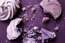 Ube Desserts On Purple Backgro...