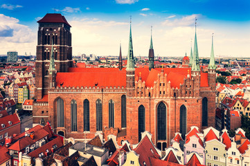 St. Mary's Cathedral, Old Town in Gdansk, Poland