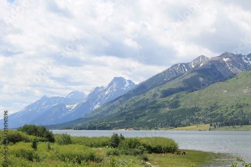 lake and Mountain side
