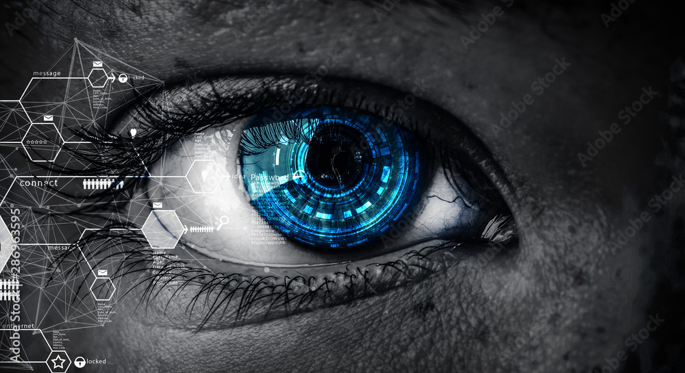 Fototapeta Abstract high tech eye concept