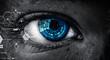 Leinwandbild Motiv Abstract high tech eye concept