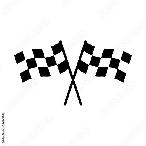 Deurstickers F1 racing flag icon design vector symbol