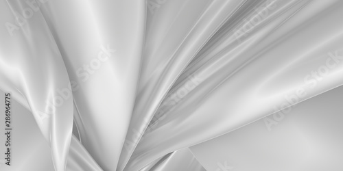 Abstract silk background. 3D rendering. Fototapet