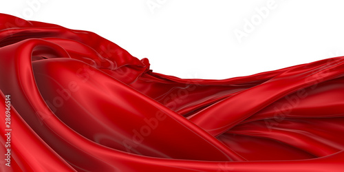 Poster Abstract wave Abstract background of colored wavy silk or satin.