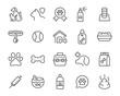 set of pet icons, dog, cat, puppy, animals