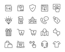 Set Of Shopping Icons, Shoppin...