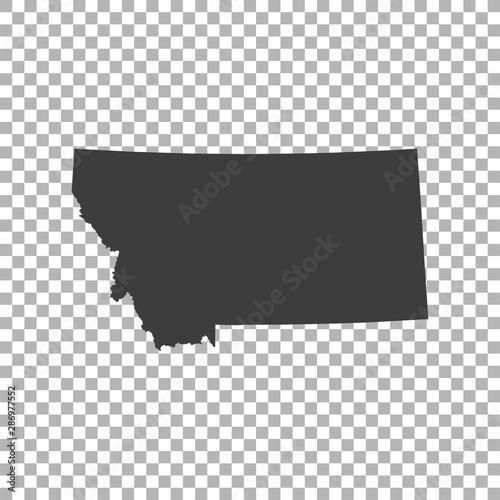 Fototapeta map of Montana obraz