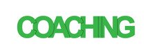 COACHING. Color Colorful Banners, Lower-case Letters