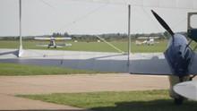 T-6 Harvard Planes Taxis Across Grass