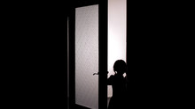 Little Female Child Silhouette...