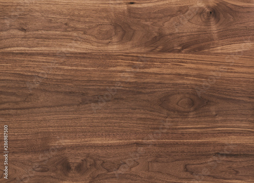 Obraz Texture of black walnut surface with oil finish - fototapety do salonu