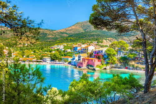 Picturesque Assos village in Kefalonia island, Greece