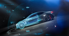 Futuristic Car Technology Conc...