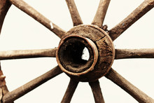 Wheel From An Old Wagon