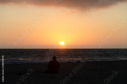 Sunset at Newport Pier