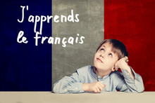 Learn French Language Concept....