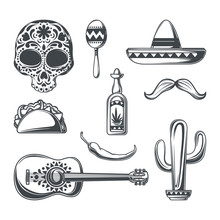 Set Of Mexican Elements