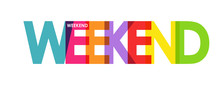 WEEKEND. Color Colorful Banner...