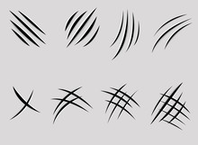 Claws Scratches Vector Illustr...
