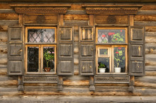 Beautiful Traditional Window In A Russian Village