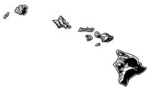 Hawaii - Hawaiian Islands, Stylized Black And White
