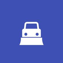 Snowplow Truck Icon, Vector