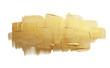 Leinwanddruck Bild Gold (bronze) glittering color smear brush stroke stain blot on white background. Abstract Paint texture.