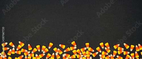 Halloween candy corn bottom border banner Fototapet
