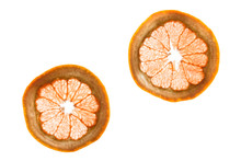Pieces Of Fruit With An Internal Structure With Backlight - Grapefruit
