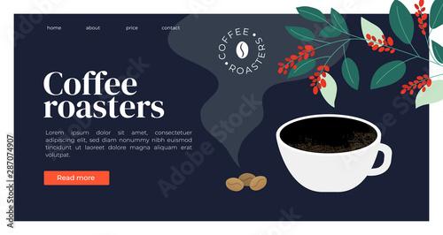 Slika na platnu Template  for coffee roasters website