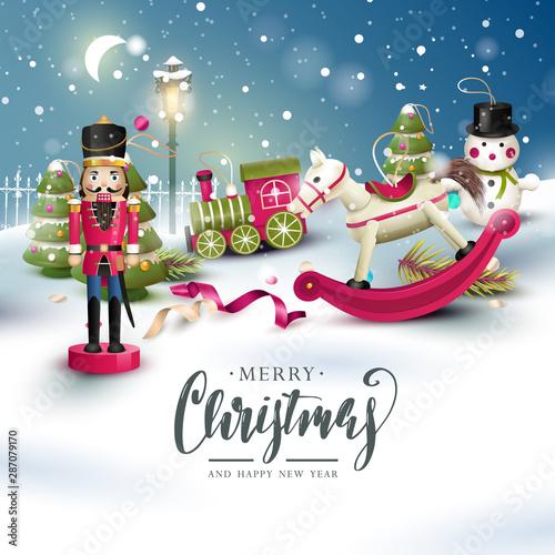 Fotografía  Christmas traditional greeting card