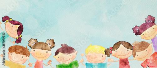 szczesliwe-dzieci-baner-akwarela