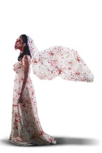 Female Ghost Wearing Bloody Br...