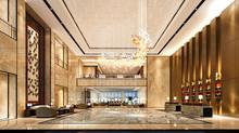 3d Render Luxury Hotel Entranc...