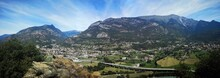 Panoramic View In The Aosta Valley From Ussel Castle
