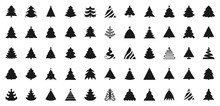 Christmas Tree Black Flat Glyp...