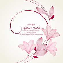 Floral Abstract Background Fra...