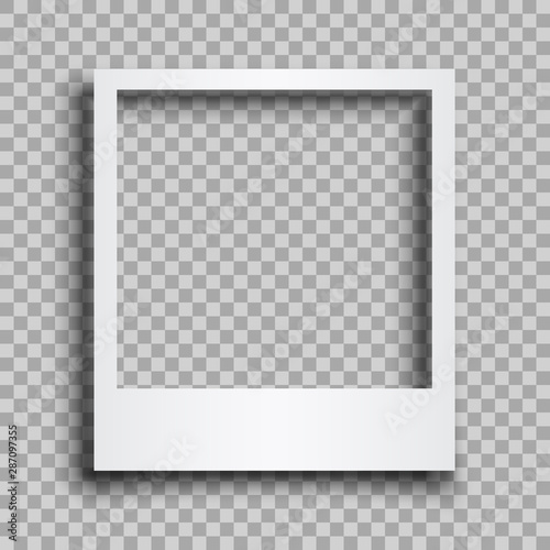 Empty white photo frame with shadows - for stock Fototapete