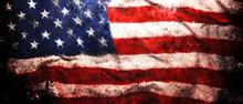 Rough Faded US American Flag B...