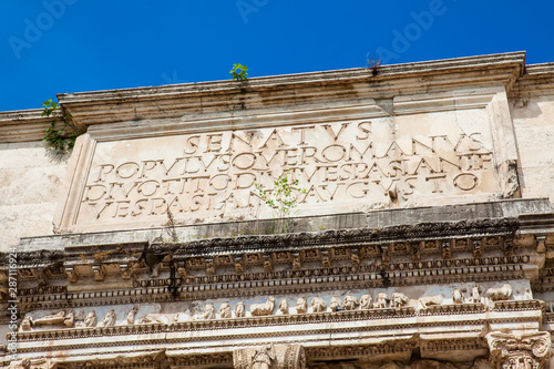 The Arch of Titus located on the Velian Hill in Rome Wallpaper Mural