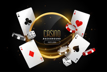 Casino Background With Playing...