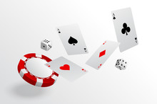 Playing Cards Chips And Dice F...