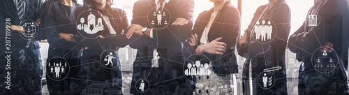 Human Resources Recruitment and People Networking Concept Wallpaper Mural