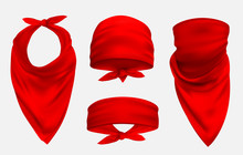 Red Bandana Realistic 3d Acces...