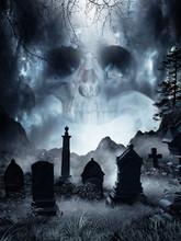Fog On An Abandoned Cemetery