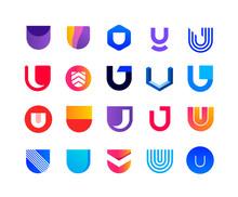 Letters U - Logo Set