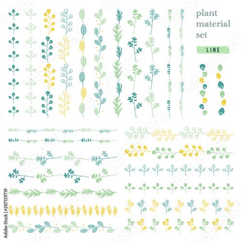 植物の素材セット(ライン) Fototapete