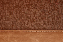 Stitched Leather Background Gr...