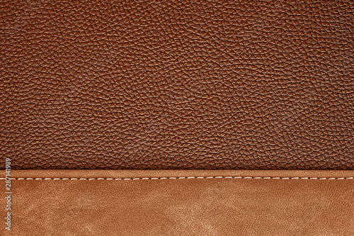 Fotografie, Tablou  stitched leather background gray and black colors